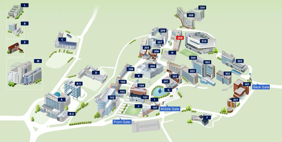 CAU Campus Map