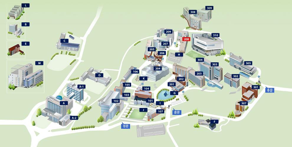 중앙대학교 캠퍼스 맵